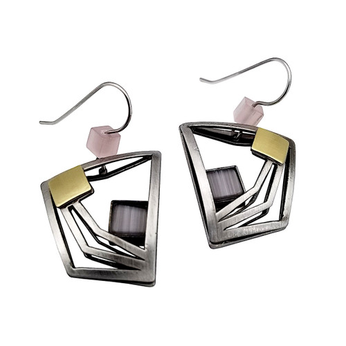 Christophe Poly Lavender Square Earrings