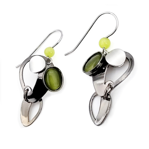 Christophe Poly Modern Green Earrings