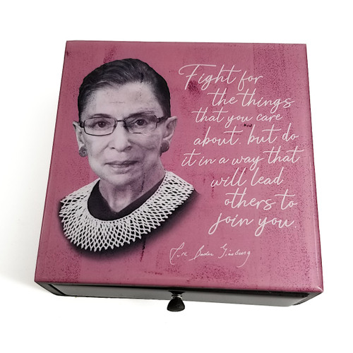 Boutique Box- RBG Quote- Fight for the things