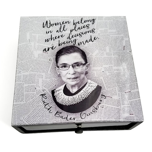 Boutique Box- RBG Quote- Women Belong In All Places
