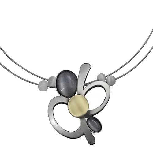 Christophe Poly Silver Knot Necklace