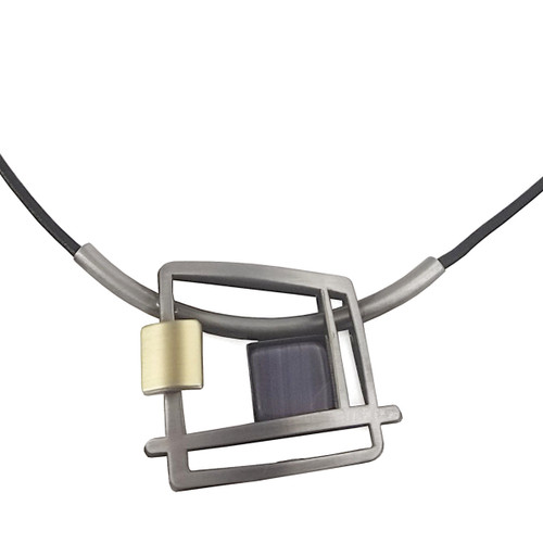 Christophe Poly Tanzanite Square Necklace