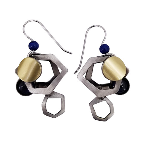 Christophe Poly Navy Circles Earrings