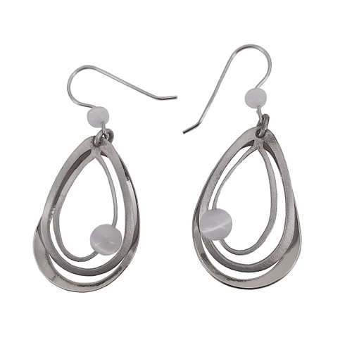 Christophe Poly Silver Tears Earrings
