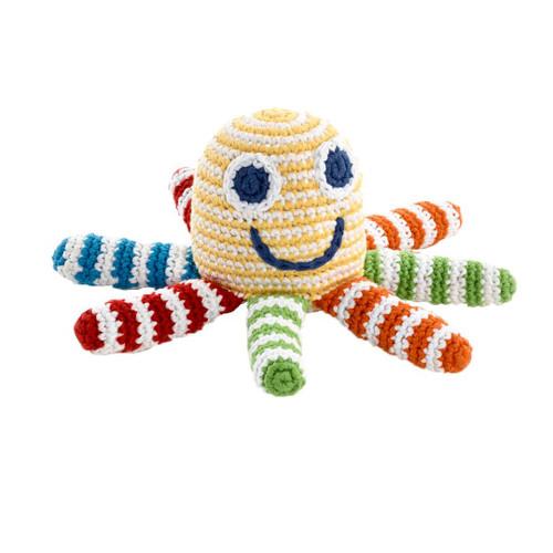 Rainbow Octopus Rattle