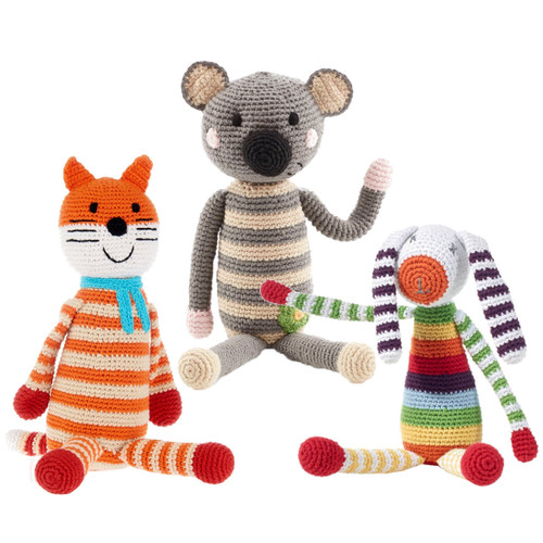 Hand Knitted Rattles