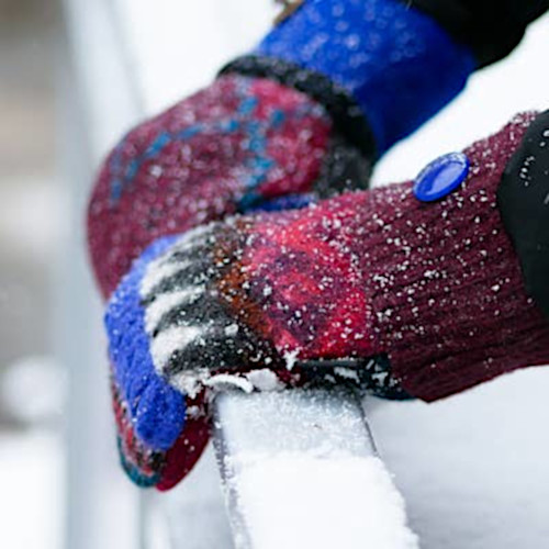Upcycled Women's Wool Mittens