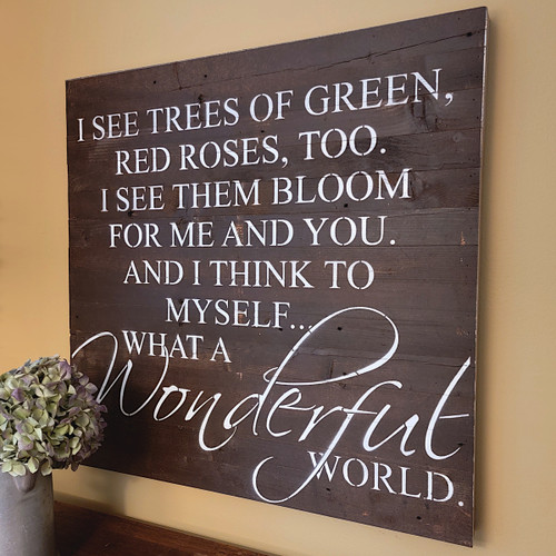 Reclaimed Wood Sign -- I See Trees of Green