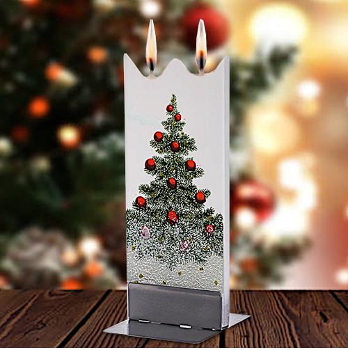 Flatyz Candle - Snowy Christmas Tree