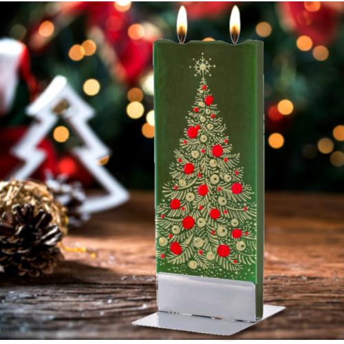 Flatyz Candle - Christmas Tree on Green