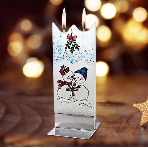 Flatyz Candle - Snowman under Mistletoe