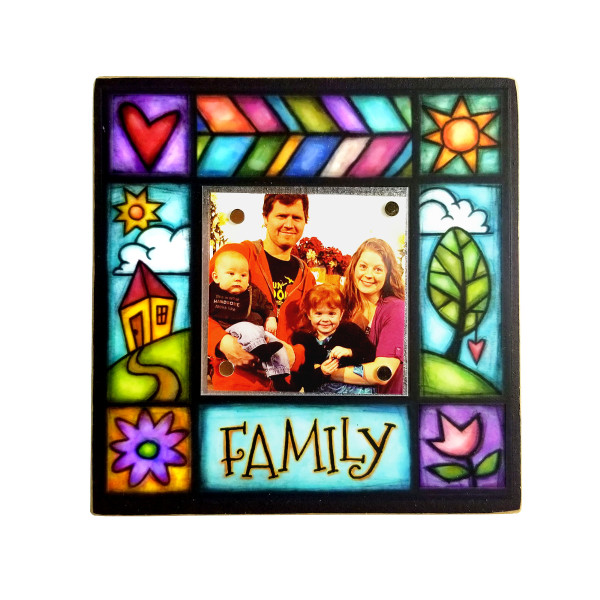 Wood Art Small Frame - Family