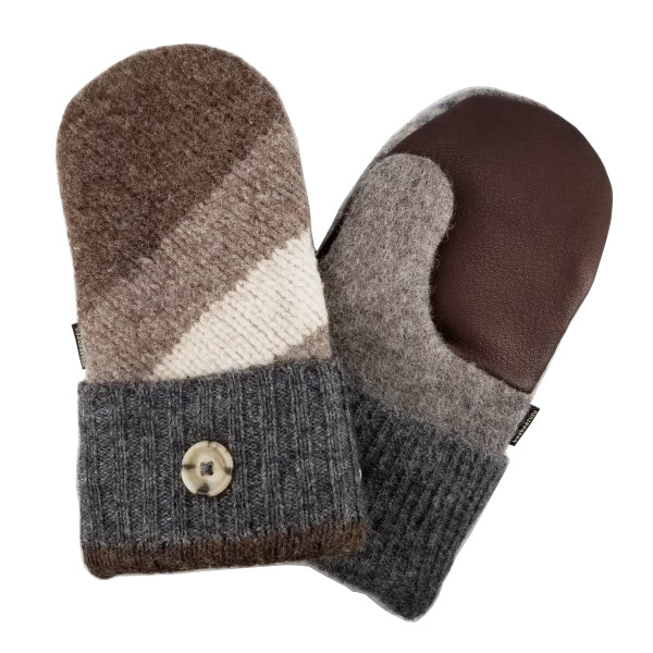Mens' Upcycled Wool Mittens