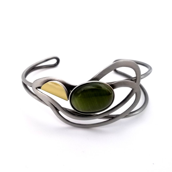 Christophe Poly Green Oval Cuff
