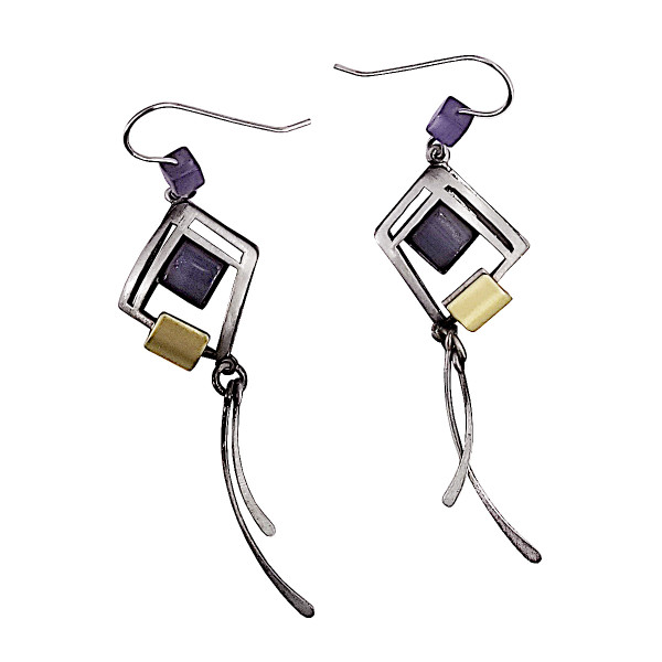 Christophe Poly Tanzanite Dangle Earrings