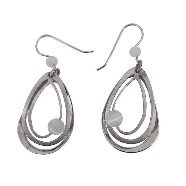 Christophe Poly Silver Tears Earrings