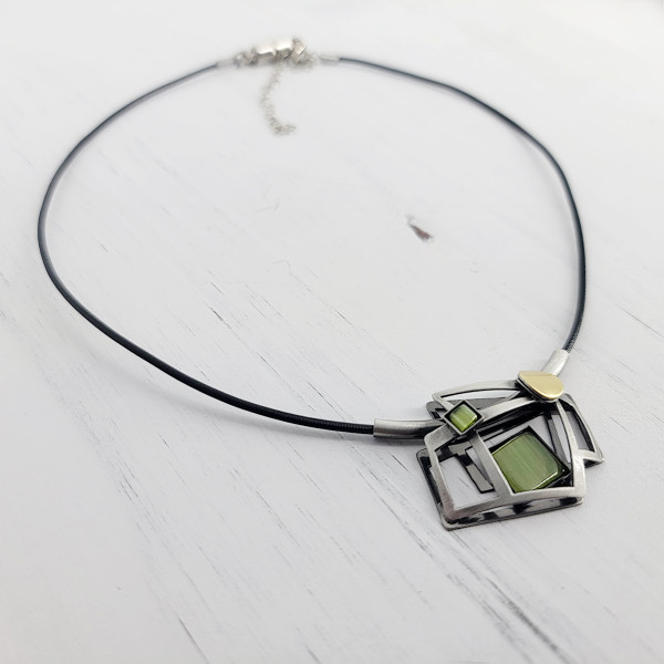 Christophe Poly Olive Squares Necklace