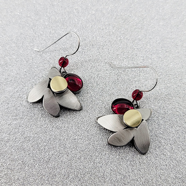 Christophe Poly Red Berry Earrings