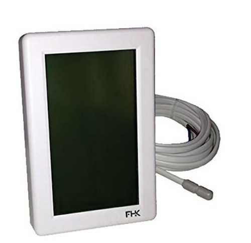 Touch-screen programmable thermostat for floor heating.