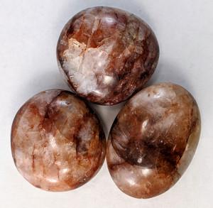 Hematoid Quartz Palm stone