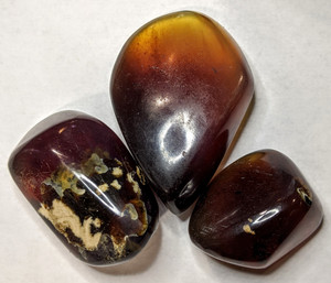 Blue Amber Palm Stones