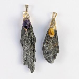 Kyanite with Amethyst/Citrine