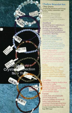 Gemstone bracelet Chakra Set
