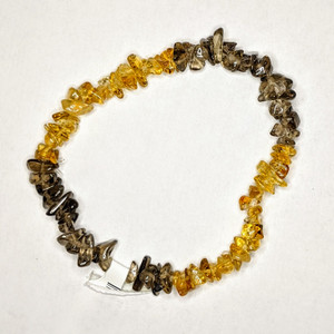 Citrine and Smoky Quartz chip