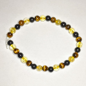 Tiger Eye w/ Citrine w/ Black Tourmaline