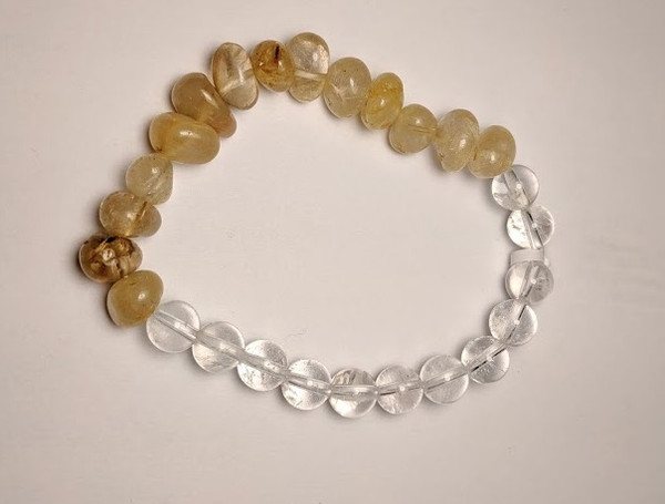 Rutilated Quartz with Clear Quartz