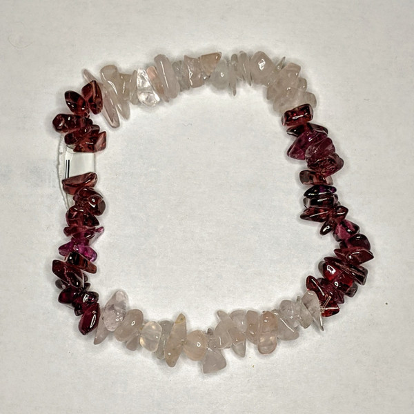 Garnet w/ Rose Quartz Chip