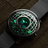 Trappist-1 Moonphase Silver Blue Mesh (TMP-3021-MESH) lume