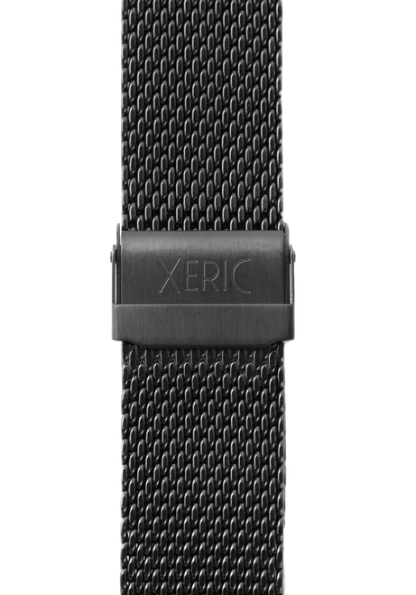 Xeric 22mm Black PVD Plated Mesh Strap (XS3022M-STRAP) clasp