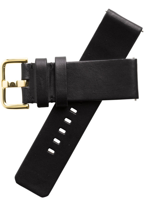 Xeric 24mm American Horween Black/Gold Leather Strap (XRC-SOLO-24-BKGD)