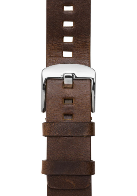 Xeric 20mm American Horween Dark Brown/Silver Leather Strap (XRC-RQSQ-20-BRSV