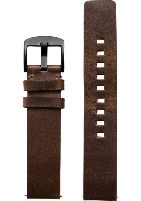 Xeric 20mm American Horween Dark Brown/Gun Leather Strap (XRC-RQSQ-20-BRGN)