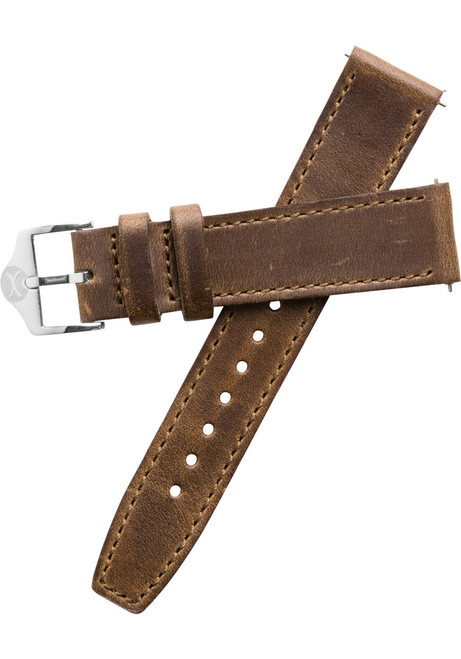 Xeric 20mm Horween Full Stitched Brown Leather Strap (XRC-EGA-20-BRSV)