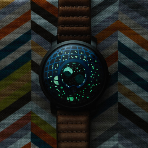 Xeric Trappist-1 Moonphase Blue IP (TMP-3019) glow lume