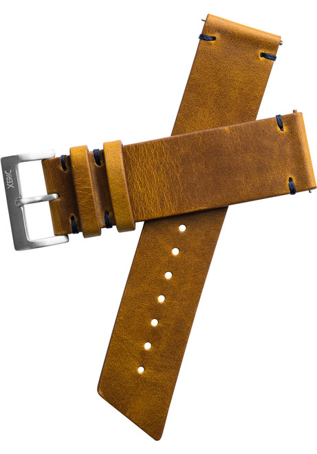 Xeric 22mm Horween Buccaneer Leather Tan Strap Silver Buckle (XRC-ANG-22-TNSV)