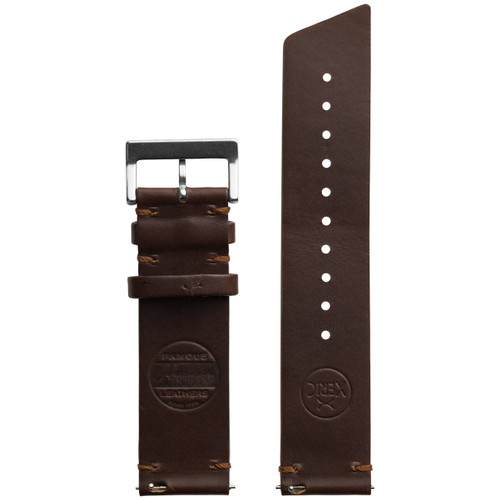 Xeric 22mm Horween Beaufort Leather Brown Strap Silver Buckle (XRC-ANG-22-BRSV)