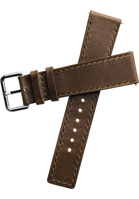 Xeric 22mm Horween Chromexcel Leather Brown Strap Silver Buckle (XRC-HGA-22-BRSV)