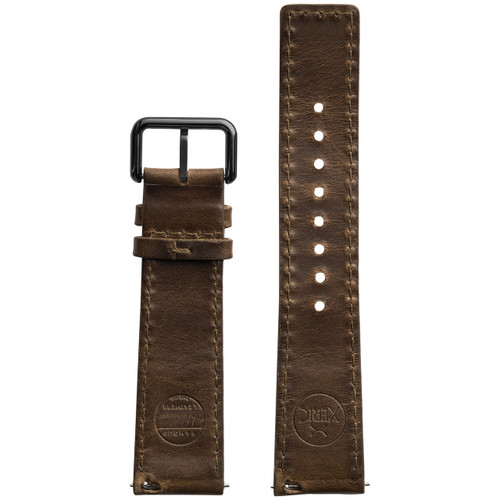 Xeric 22mm Horween Chromexcel Leather Brown Strap Gun Buckle (XRC-HGA-22-BRGN)