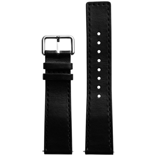 Xeric 22mm Horween Chromexcel Leather Black Strap Silver Buckle (XRC-HGA-22-BKSV)