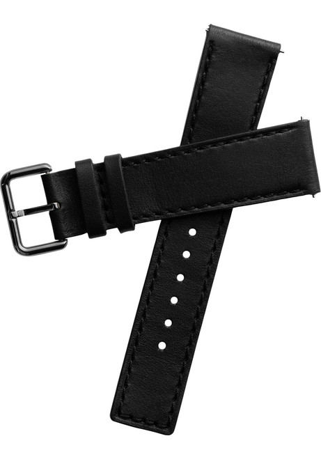 Xeric 22mm Horween Chromexcel Leather Black Strap Gun Buckle (XRC-HGA-22-BKGN)