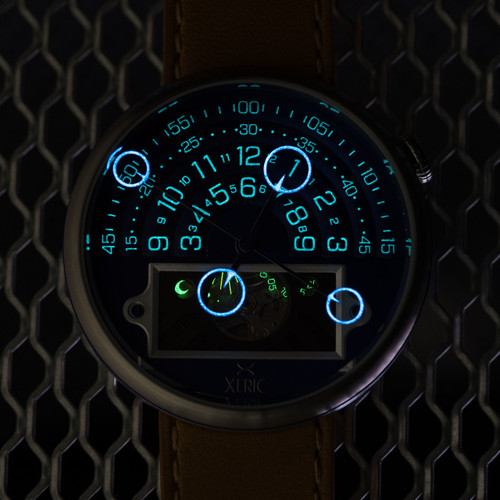 Halograph II Automatic Limited Edition Navy Tan (HGA-1177-12L)