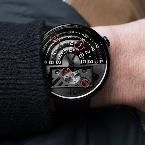 Halograph II Automatic Limited Edition Black Red (HGA-3832-03L)