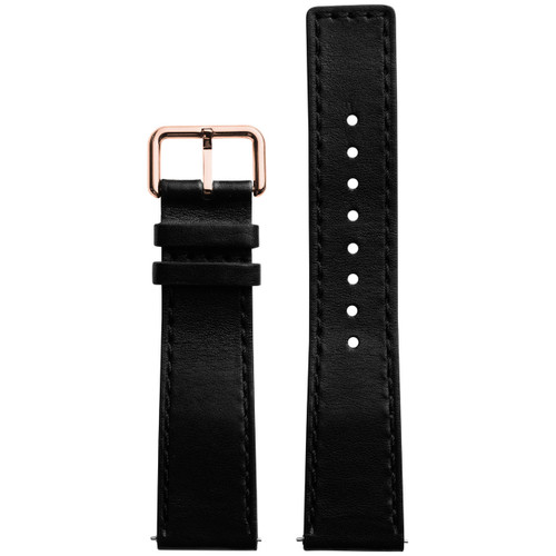 Xeric 22mm Horween Chromexcel Leather Black Strap Rose Gold Buckle (XRC-HGA-22-BKRG)