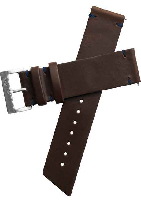 Xeric 22mm Horween Beaufort Leather Brown Blue Strap (XRC-ANG-22-BRBL)