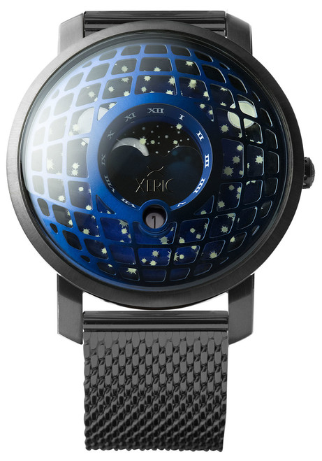 Trappist-1 Moonphase Blue IP Mesh (TMP-3019-MESH) front
