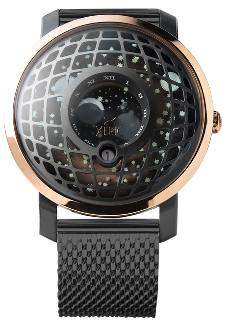Trappist-1 Moonphase Rose Gold Mesh (TMP-3018-MESH) front